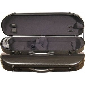 Core Fiber Composite Contoured Oblong Violin Case