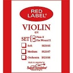 Red Label Super- Sensitive Violin Strings - Medium Gauge