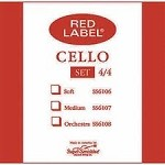 Super Sensitive Red Label Cello Strings Medium Gauge