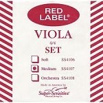 Super Sensitive Red Label Viola Strings Medium - Gauge